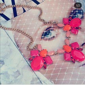 ✖️BaubleBar pink & orange necklace
